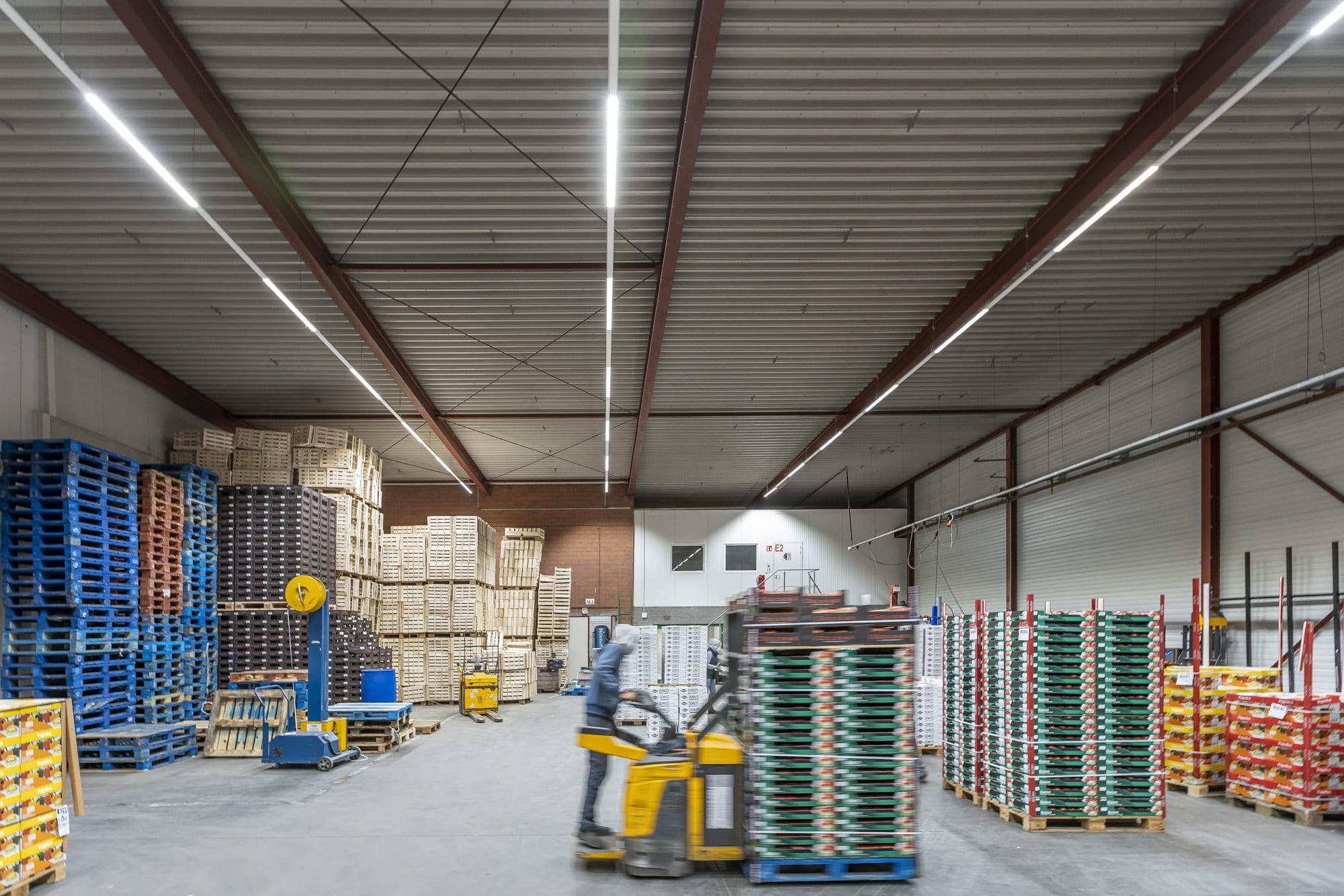 installatie LED verlichting bij Herve Transport